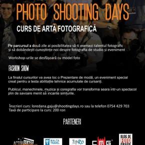 Esti pasionat de fotografie?  Vino la Photo Shooting Days!